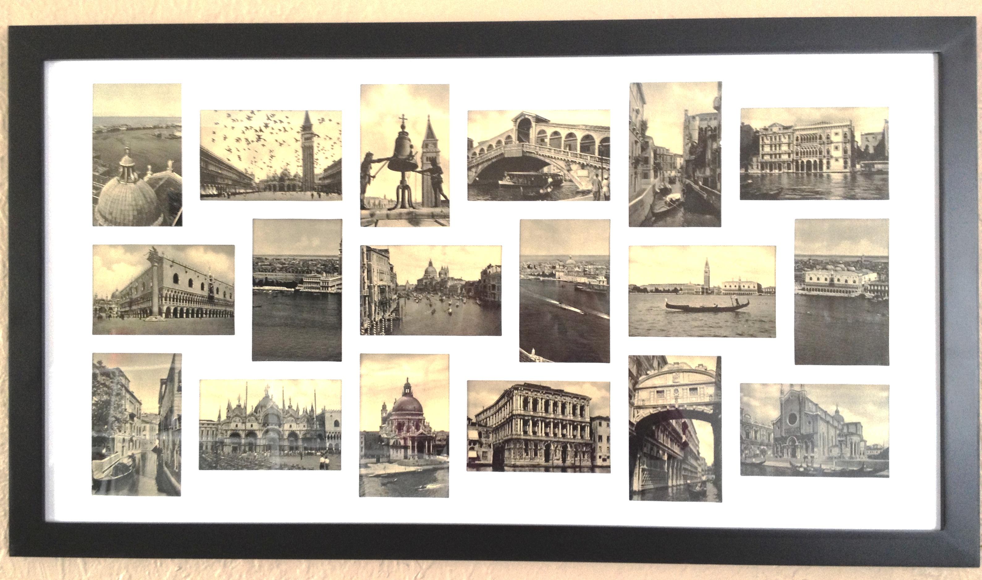 Uncategorized Postcard Collage Frame postcards of venice subterranean muse  venice